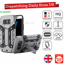 Armor Hybrid Tough Dual Color Card Slot Shockproof Case For Samsung & iPhone
