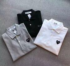 New Japan Men's Comme Des Garcons CDG Play Embroidery Heart Polo Casual T-Shirt