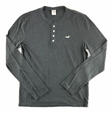 Hollister Mens Long Sleeve T-Shirt Tee Thermal Henley Hood Various
