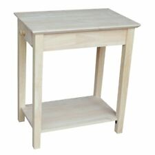 International Concepts Narrow End Table, Unfinished