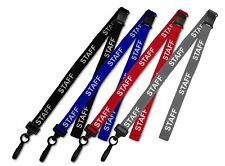 Staff ID Soft Neck Lanyard For Staff ID Card Badge Holder. Qty's of 1-50
