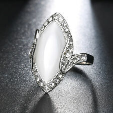 EP_ Women Marquise Cut Artificial Stone Shiny Rhinestone Finger Ring Jewelry Mod