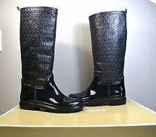 NIB MICHAEL KORS BLACK RUBBER ECO ATANADO TALL BLAKELEY RAINBOOTS BOOTS SZ 6