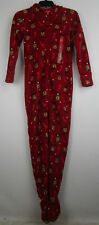 Family PJs Womens Holiday Reindeer Footed Pajamas F17104352 NWOT