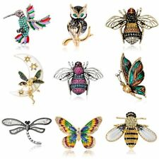 Animal Insect Bird Dragonfly Bee Butterfly Brooch Pin Women Jewelry