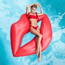 180cm Inflatable Lips Giant Pool Float Toys Swimming Ring Inflatable Mattress