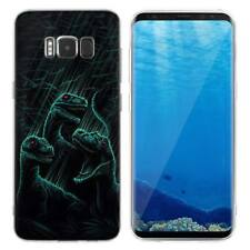 Case Cover For Samsung Galaxy S6 S7 Edge S8 S9 Plus Dinosaurs Raptors Animals