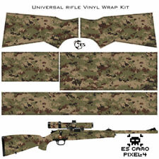 ES Camo PIxel Wrap Skin for Rifle. 17 patterns Protection and Camouflage for Gun