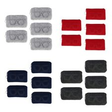 5pcs Soft Felt Sunglasses Case Eyeglasses Glasses Storage Pouch Makeup Bag