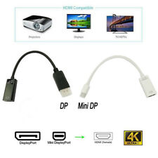 For PC HP/DELL HDTV 4K HDMI Adapter Cable HDMI Femal to DP/Mini DP Display Male