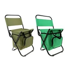 Outdoor Portable Folding Chair Seat Stool Cooler Bag Camping Fishing Picnic