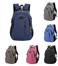 Laptop Backpack Casual Canvas Travel Unisex Schoolbag Anti Theft Waterproof Bags
