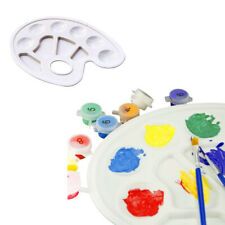 Oval/Round/Rectangle Art Mixing Paint Draw Watercolor Plastic Palette Tray
