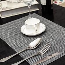 4Pcs Weave PVC Placemats Table Mats Bowl Pads Disc Coasters Anti-Slip Place Mat