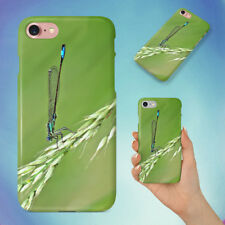 DAMSELFLY GRASS INSECT MACRO HARD BACK CASE FOR APPLE IPHONE PHONE