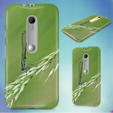 DAMSELFLY GRASS INSECT MACRO HARD BACK CASE FOR MOTOROLA PHONES
