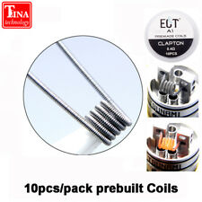 ECT Flat twisted wire Fused clapton Mix twisted prebuild coils Heating rda