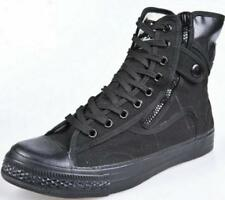New Mens Lace Up Military High Top Hiking Side Zip Shoes Tactical Ankle Boots