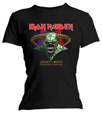 Ladies Iron Maiden Legacy of the Beast Tour  Official Tee T-Shirt Womens Girls