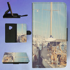 BOATS PORT SAILING SHIPS HARBOR FLIP CASE COVER FOR SAMSUNG GALAXY PHONE