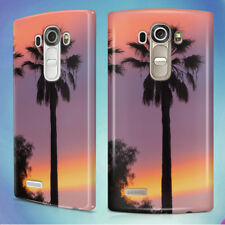 THREE PALM TREES SUNSET HARD BACK CASE COVER FOR LG PHONES