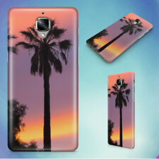 THREE PALM TREES SUNSET HARD BACK CASE FOR ONEPLUS PHONES