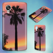 THREE PALM TREES SUNSET HARD BACK CASE COVER FOR NEXUS PHONES