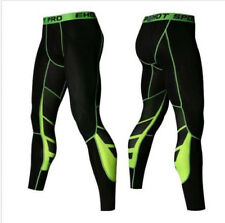 2018 Gym Mens Compression Fitness Tights Base Layer Stretch Sports Running Pants