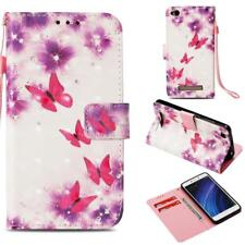 Card Wallet Pattern Paint Magnetic Leather Case Cover for Xiaomi Redmi 4 4X 4A