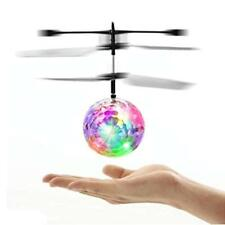 OCDAY Flying Ball RC Toy Kid Toys Infrared Induction Helicopter Drone with LED