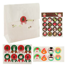 16 Sheet Merry Christmas Paper Seal Sticker Xmas Packaging Gift Note Decor Label