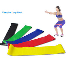 Resistance Band Loop Yoga Pilates Home GYM Fitness Exercise Workout Training