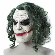 2018 Scary Batman Joker Clown Face Mask With Hair For Cosplay Halloween Party