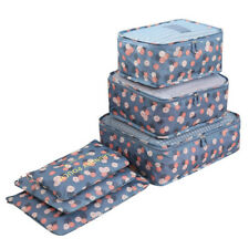 Home & Travel Storage Bag Organizer Clothes Tidy Pouch Divider Outdoor Box 6 Pcs