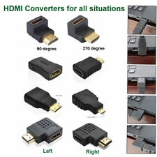 8Type Mini Micro HDMI Male to Female Extension Adapter Converter Cable Connector