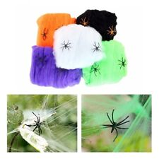 1Pcs Halloween Spider Web Scary Party Scene Props Simulation f Bar Haunted House