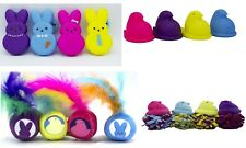 4-Pack Peeps Pet Plush or Vinyl Bunny or Chick Squeaky Toys for Cats and Dogs