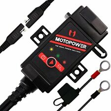 MOTOPOWER MP0608 3.1Amp Motorcycle Dual USB Charger SAE to Adapter Battery GPS