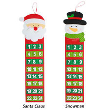 Christmas Advent Calendar Tree Hanging Xmas Pocket Countdown Display Decoration