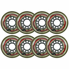Inline Skate Replacement Wheels Grey/Clear 72mm 78A Reflex 8 Pack