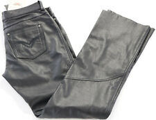 womens harley davidson leather pants 2 8 10 12 14 black highland low rise boot