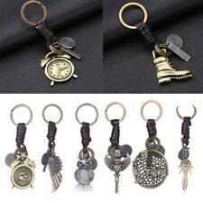 Fashion Punk Metal Key Chain Ring Owl Wing Pendant Bag Car Charm Key Ring Gifts