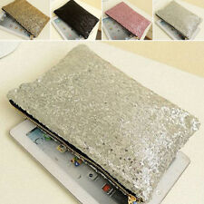 Women Sparkling Sequins Clutch Evening Party Bag Handbag Tote Purse Prom Wallet