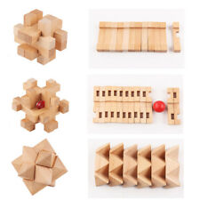 Wooden Intelligence Toy Chinese 3D Brain Teaser Puzzle Set (6 Pieces/Set)