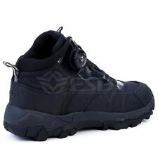 Men Tactical Military Boots Leather Lace Up Combat Army Ankle Flat Work Shoes