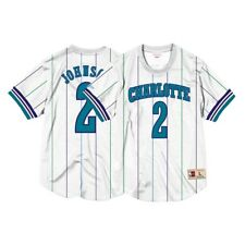 Larry Johnson Charlotte Hornets Mitchell   Ness Men s Mesh Crew Neck Jersey 0a7d74574