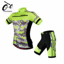 Mens Cycling Kit Quick dry Jersey Shorts Suit Bike Gel Pad Team Wear Bicycle Set