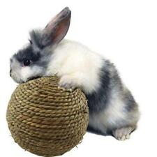 Pet Rabbit Cat Toy Chewing Clean Teeth Natural Grass Ball Easy To Carry Play IT