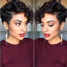 Short Curly Hair Pixie Cut Wigs for Black Women Cheap Synthetic Short Wig