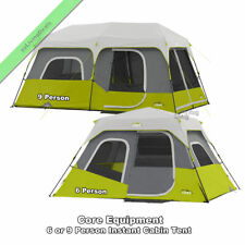 Instant Cabin Tent 6 or 9 Person Outdoor Camping Dome Tents w/ Stakes, Carry Bag